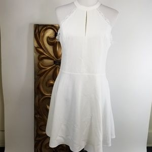 NBD white lace dress with pockets size XL